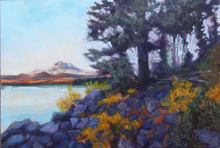 SLH-autumn dusk at Elk lake.wb