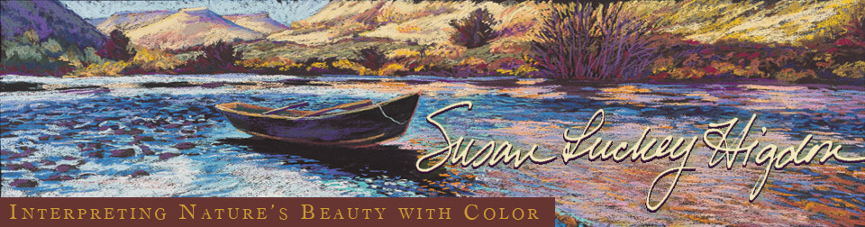 Susan Luckey Higdon\'s landscape paintings interpret nature using color