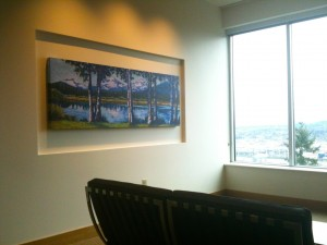 """Through the Trees"" in the Meditation Room at Shriners Hospitals for Children, Portland"