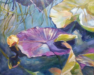"""Serenity"" a painting of a waterlily by Susan Luckey Higdon"