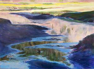 Estuary Light is an acrylic on birchboard by Susan Luckey Higdon