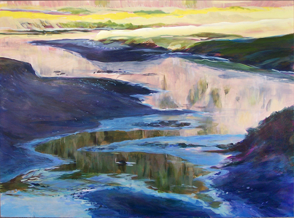 Estuary Light is an acrylic on birchboard by Susan Luckey Higdon
