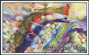 "The opening spread in H2O magazine, showing ""Diversity"", a soft pastel painting by Susan Luckey Higdon"