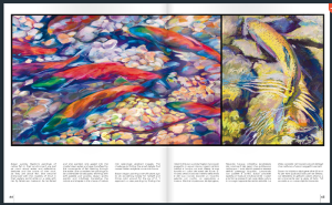 "The second spread in the spring issue of H2O magazine shows ""Clear Creek"" and ""Golden Traveler"" by Susan Luckey Higdon"