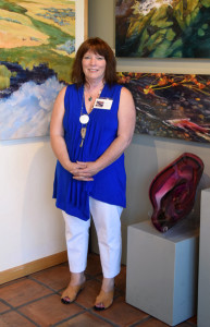 Susan at Tumalo Art Co. in Bend, Oregon during the First Friday Gallery walk opening of her June 2015 show.