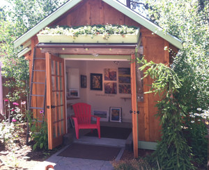 The studio in the courtyard at Clearwater Gallery in Sisters, Oregon